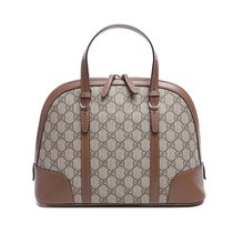 Gucci Gg Canvas Donna Tote Taupe Brown Beige Handbag Bag