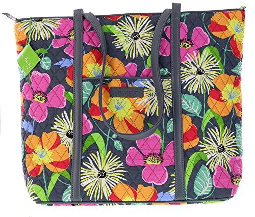 Very Bradley Trimmed Vera Handbag Tote in Jazzy Blooms