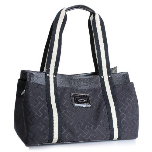 Tommy Hilfiger Small Iconic Tote Handbag Black
