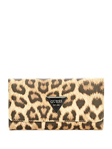 GUESS Women's Abree Leopard-Print Slim Wallet