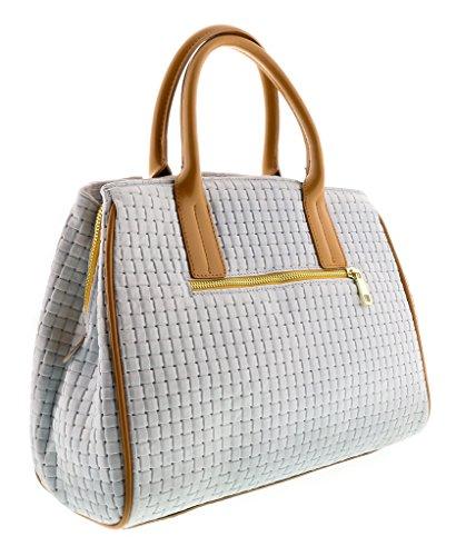 HS2076 SASA Leather Satchel/Shoulder Bag