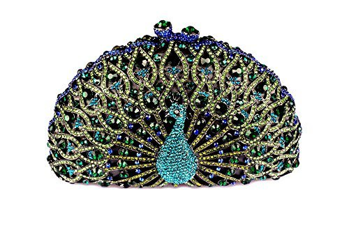 Yilongsheng Luxury Crystal Clutches for Women Peacock Clutch Evening Bag 219
