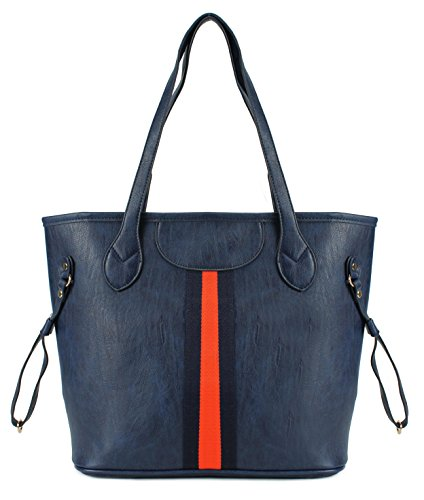 Scarleton Accent Center Striped Tote Bag H1696