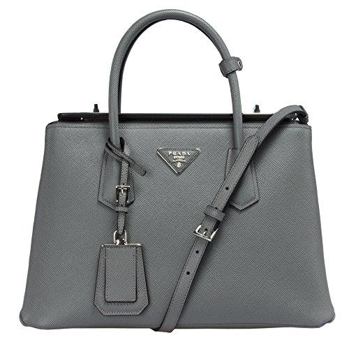Prada BN2823 Bag – F0K44 Marmo (Marble Grey) Saffiano Cuir Leather Tote