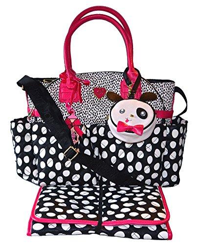 Betsey Johnson 3pc Downtown Diaper Bag Baby Shoulder Handbag