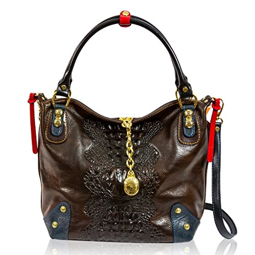 Marino Orlandi Italian Designer Brown Alligator Leather Purse Crossbody Bag