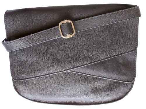 Fabrizi Women Designer Genuine Leather Black Medium Shoulder Handbag Crossbody Bag