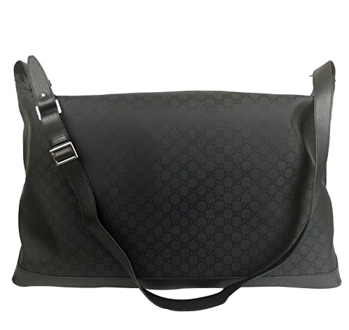 Gucci Black Nylon Guccissima XL Luggage Weekend Travel Tote Bag 105669 1000