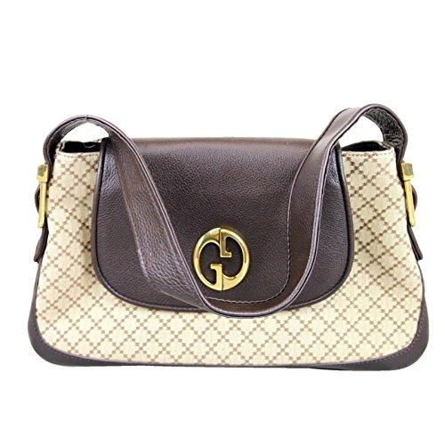 Gucci 1973 Diamante Canvas Tote Beige Shoulder Bag Handbag 251811