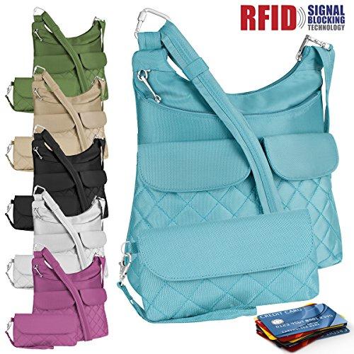 Travelon Anti-theft Crossbody Bag & Wallet RFID Blocking Multi-pocket Purse Tote