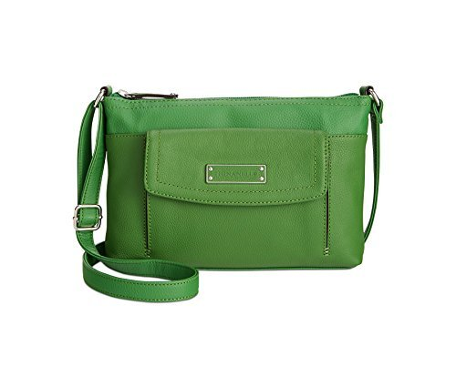 Tignanello Perfect Pockets Leather Horizontal Crossbody Leaf Green