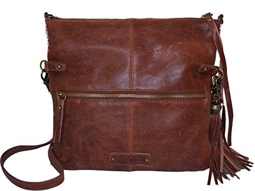 Lucky Brand Del Rey Leather Crossbody Bag Tote Handbag Purse