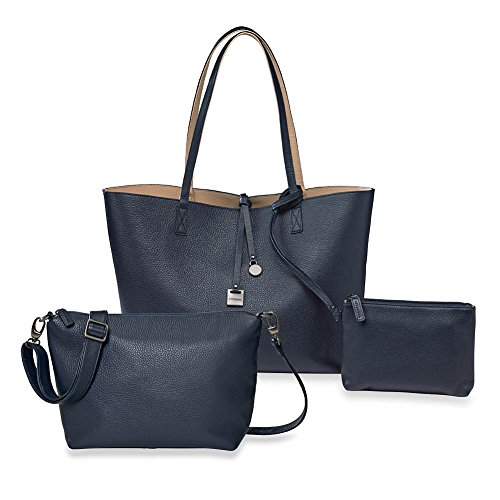 Levenger Uptown Reversible Tote and Downtown Crossbody