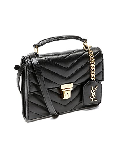 Wiberlux Saint Laurent Women's Real Leather Chevron Quilted Flap Bag