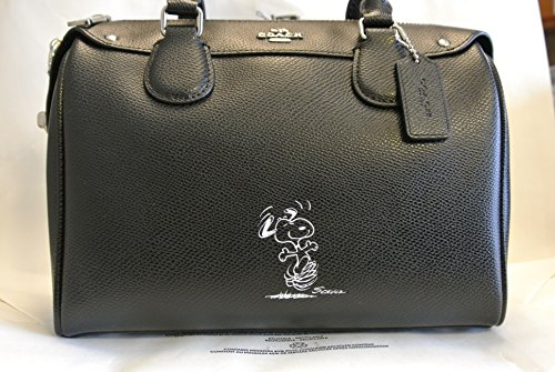 Beautiful Authentic Coach Limited Edition Peanuts Snoopy Classic Black Satchel
