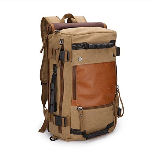 OXA Vintage Canvas Backpack Travel Backpack Rucksack Laptop Bag Hiking Bag Gym Bag Weekend Bag Duffle Bag Daypack Briefcase Bag