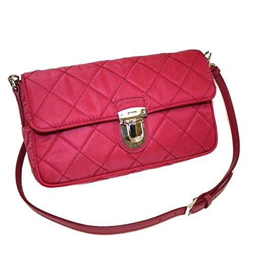 Prada Tessuto Impuntu Pattina Quilted Nylon Shoulder Bag BT1025, Pink