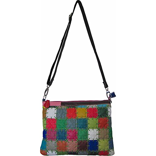 Amerileather Zigzagger Shoulder Bag (Square Rainbow)
