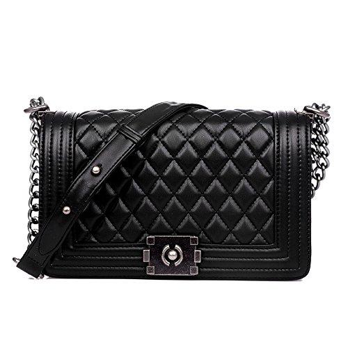 ZENTEII Women Genuine Leather Cross Body Shoulder Bag Messenger Bag