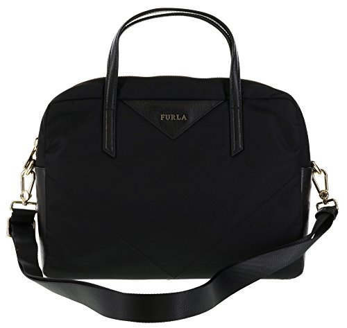 Furla S50 Calypso Handbag Satchel Shoulder Bag Crossbody in Onyx