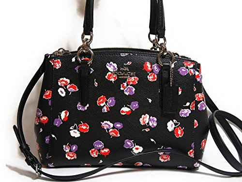 COACH CHRISTIE MINI CARRYALL IN WILDFLOWER PRINT COATED CANVAS (F37421)