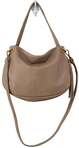Hobo Handbags Supersoft Leather Vale Convertible Crossbody – Mushroom