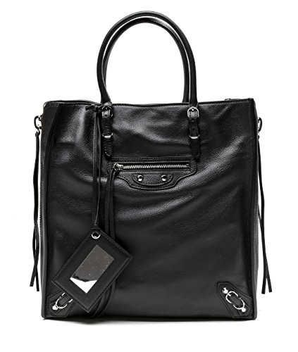 Wiberlux Balenciaga Women's Side Zipper Open Top Tote Bag