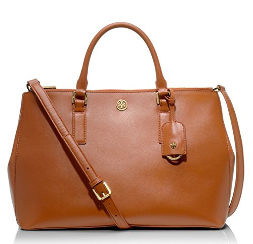 Tory Burch Robinson Double-Zip Large Tote Brown $575.00