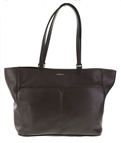 Furla Raffaella Leather Shoulder Hand Bag Tote Purse in Noisette (003) / Brown
