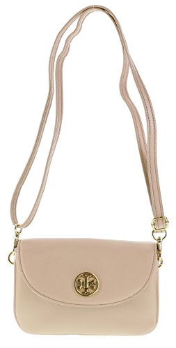 Tory Burch Robinson Leather Crossbody Bag in Dark Sahara