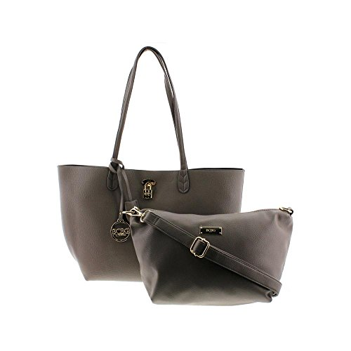 BCBG Paris Womens Reversible Faux Leather Tote Handbag