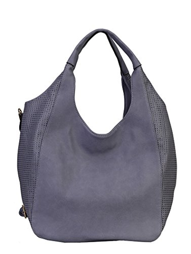 Diophy Soft PU Leather Lightweight Large Casual Hobo Tote Womens Purse Handbag QY-1880