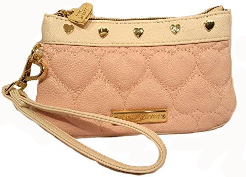 Betsey Johnson Be Mine Wristlet Blush Pink