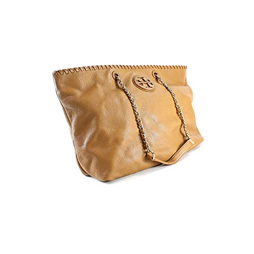 Tory Burch Large Marion East West Tote Royal Tan Handbag