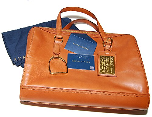 Ralph Lauren Equestrian Propietor Leather Purse Bag Handbag Tote Saddle Brown