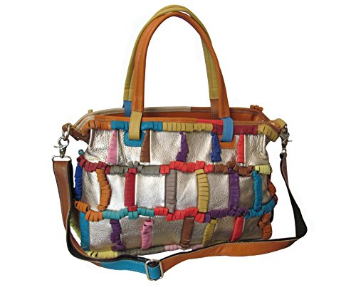 Amerileather Ringlet Handbag – Rainbow