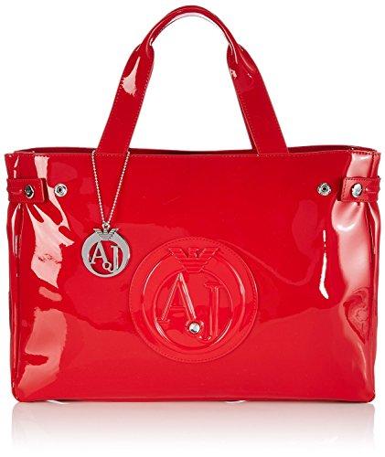 Armani Jeans Handbag Top Handle Red