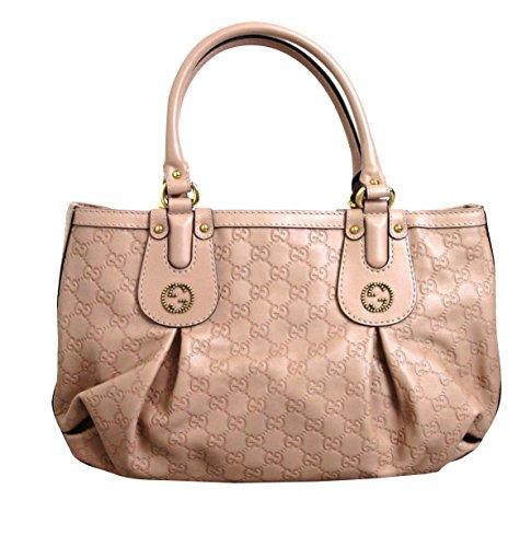 Gucci Nude Leather Scarlett Guccissima Tote Bag Handbag 269953