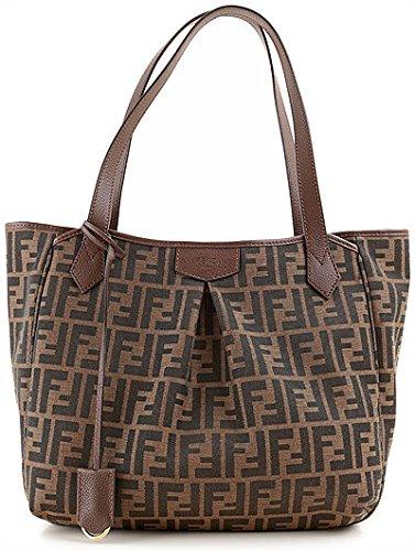 Fendi Jacquard Grande Zucca Shopping Bag 8BH269-Brown