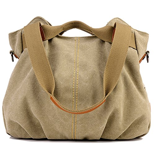 Z-joyee Vintage Hobo Canvas Tote Handbag Satchel Shoulder Bag With Removable Adjustable Strap