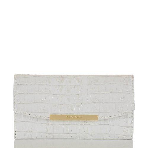 Brahmin Leather Checkbook Wallet Clutch Macaroon La Scala