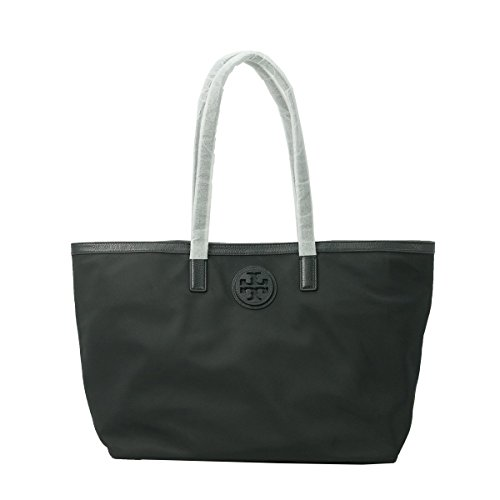Tory Burch Nylon and Leather E/W Tote – Black