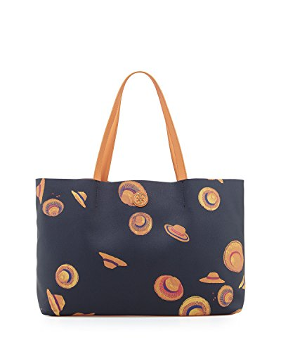 Tory Burch Kerrington East West Tote in Tory Navy Hats Print