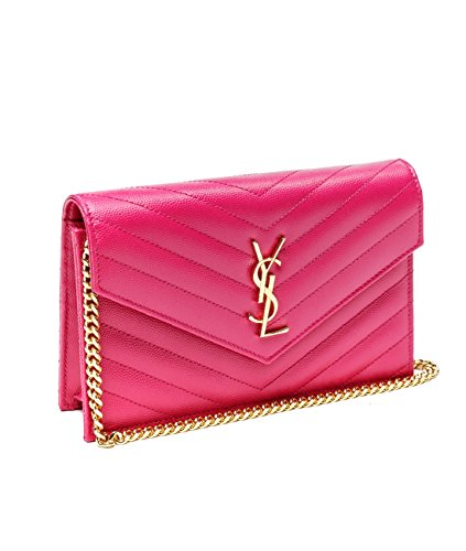 Wiberlux Saint Laurent Women's Chevron Quilted Chain Strap Bag