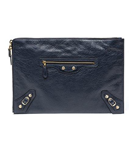 Wiberlux Balenciaga Women's Real Leather Zipper Clutch Bag