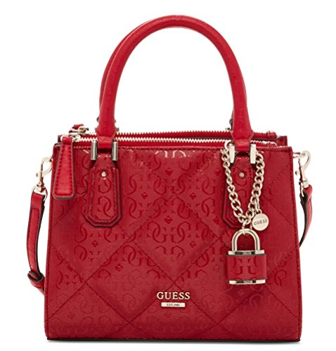 GUESS Ophelia Petite Girlfriend Crossbody Satchel Tote Bag Handbag, Lipstick