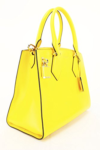Michael Kors Casey Large Daffodil Leather Satchel 31F4GCYS3L
