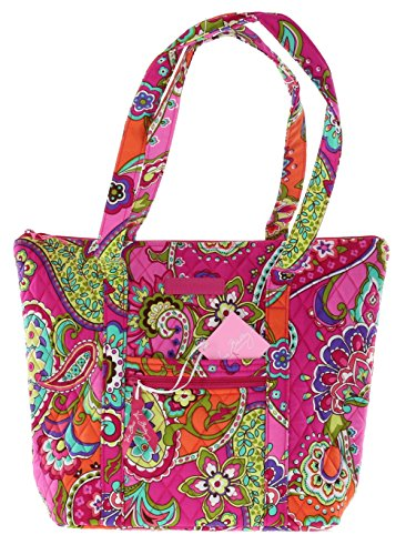 Vera Bradley Villager Handbag Shoulder Bag Tote in Pink Swirls