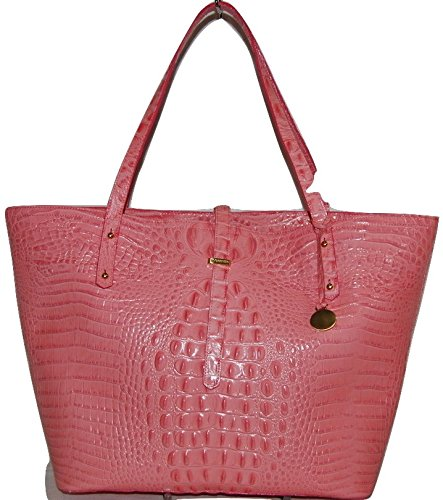 Brahmin All Day Tote Pink Lychee Melbourne Genuine Leather