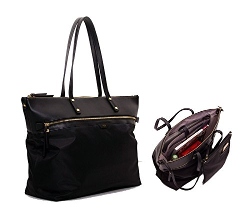Tutilo Take Away Top Zip Tote Designer Handbag – Includes Removable padded Sleeve for Laptops & Tablets